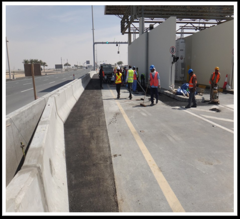 SUPPLY AND INSTALLATION OF ASPHALT AND REINSTALING THE AREA ADJACENT TO THE MEDIAN AT KHALIFA PORT FOR ADPC