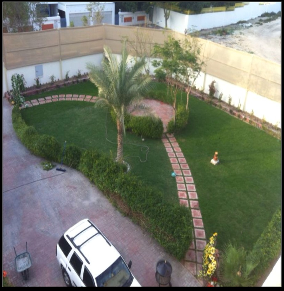 LANDSCAPING WORK FOR RESIDENTIAL VILLA IN AL QUSAIS