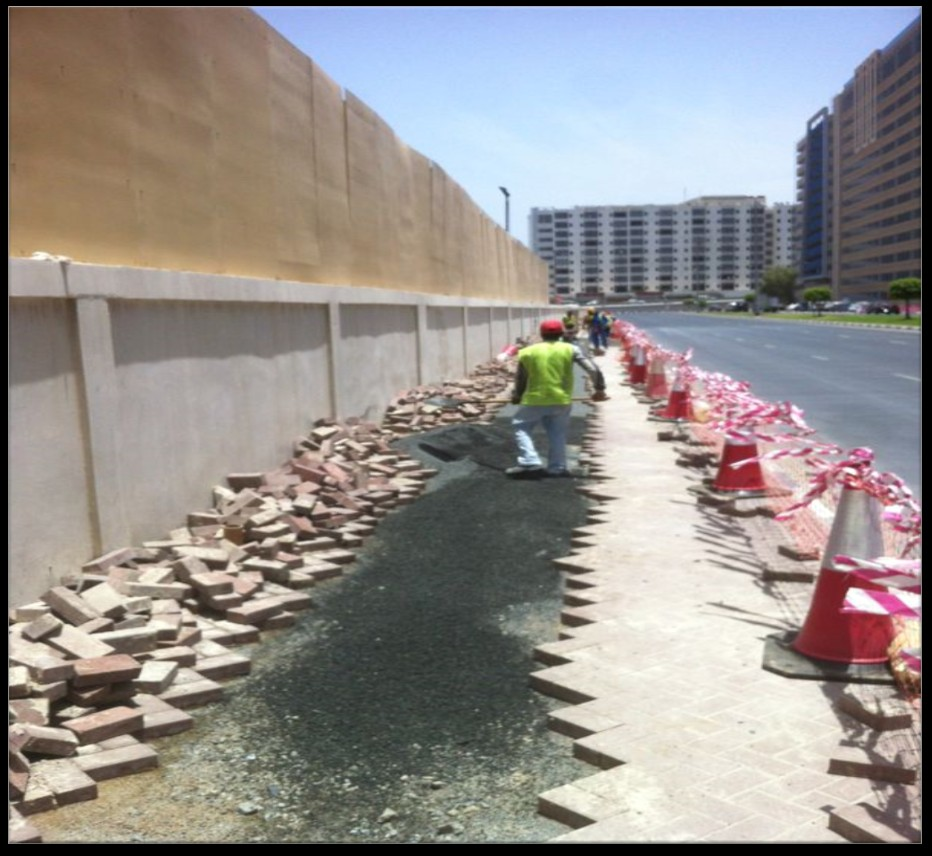 REINSTATEMENT OF VARIOUS TYPE OF PAVEMENT IN VARIOUS LOCATION IN DUBAI FOR DEWA